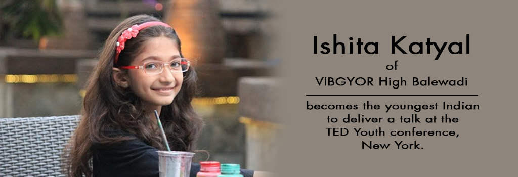Ishita Khatyal of VIBGYOR High Balewadi outshines at the TED Youth conference in New York