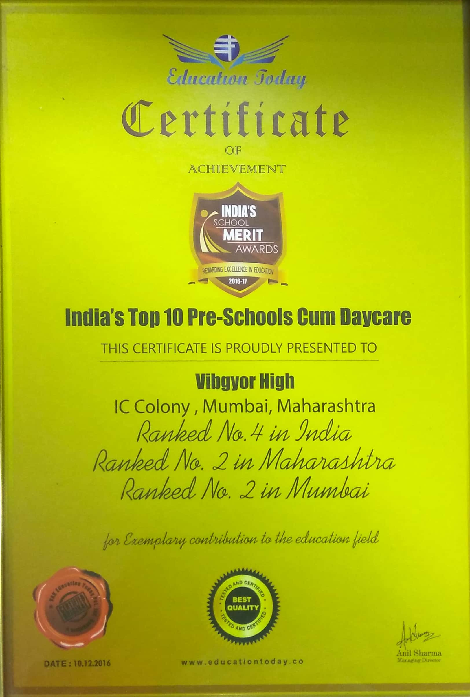 ICSE | CBSE School in Borivali, Mumbai - VIBGYOR High