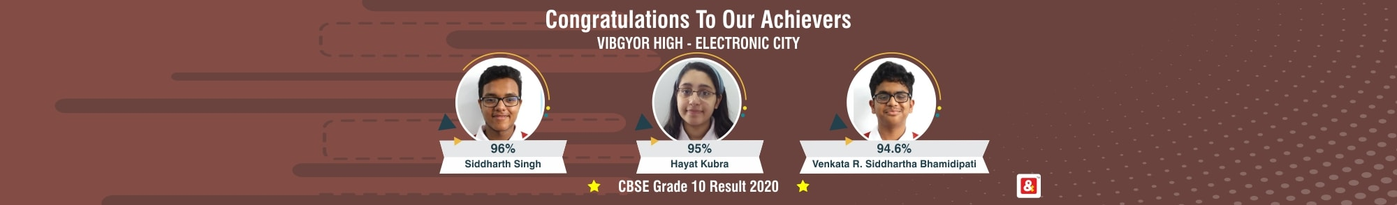 VIBGYOR High School in Electronic City CBSE result